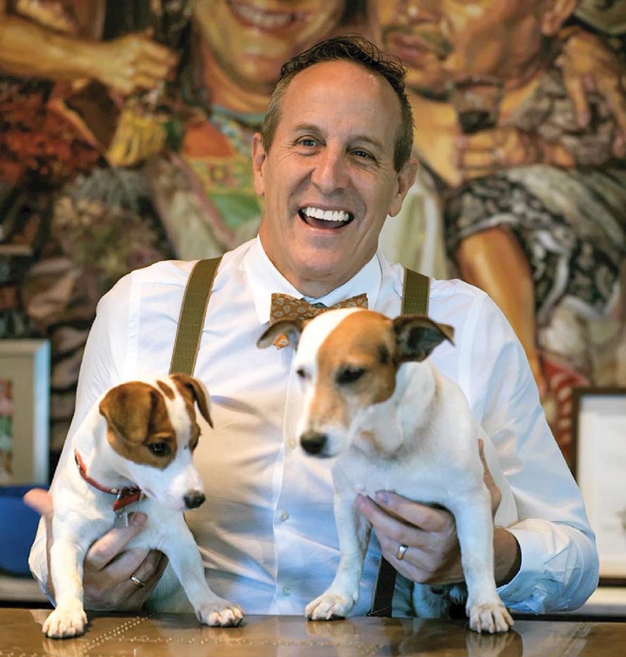 Bill Bensley with his Jack Russells