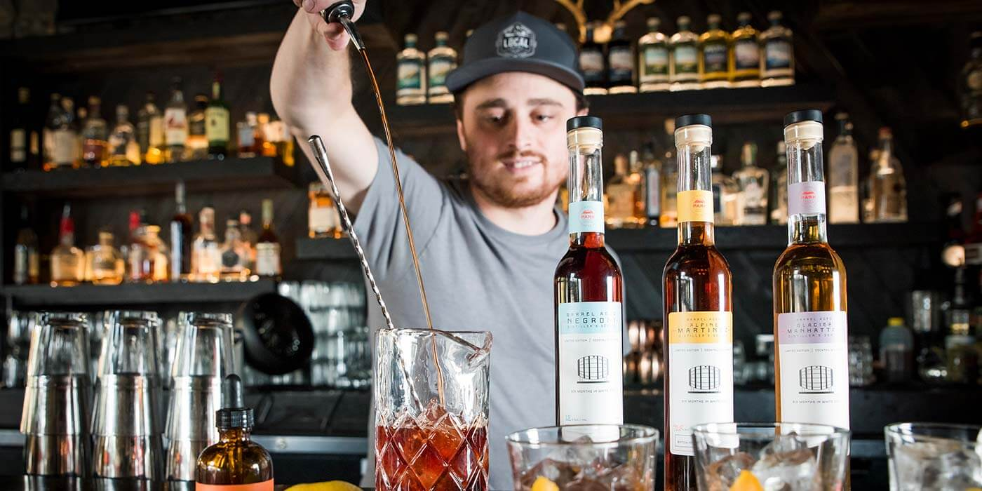 Cocktail master at Park Distillery
