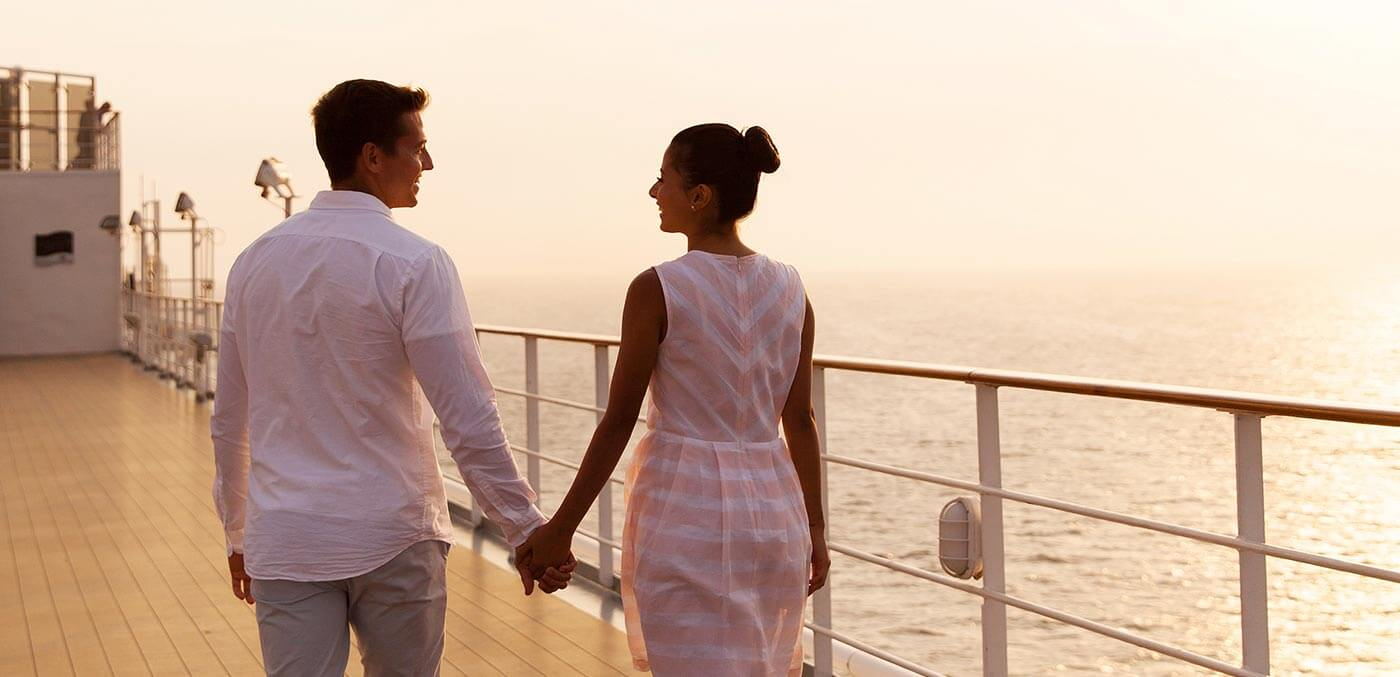 Couple onboard ship