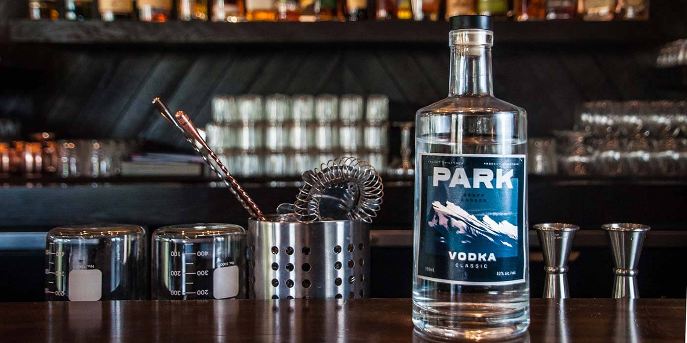 Park Distillery vodka bottle
