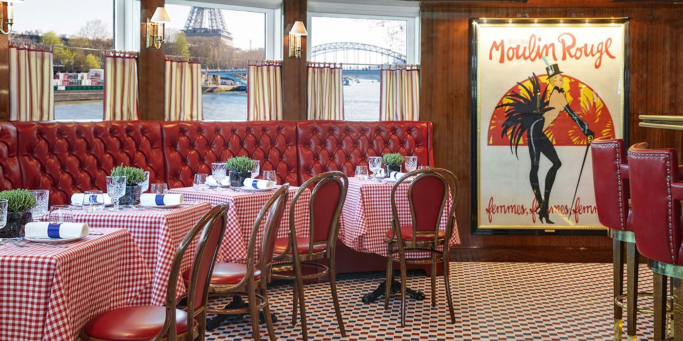 Restaurant on board a Uniworld cruise