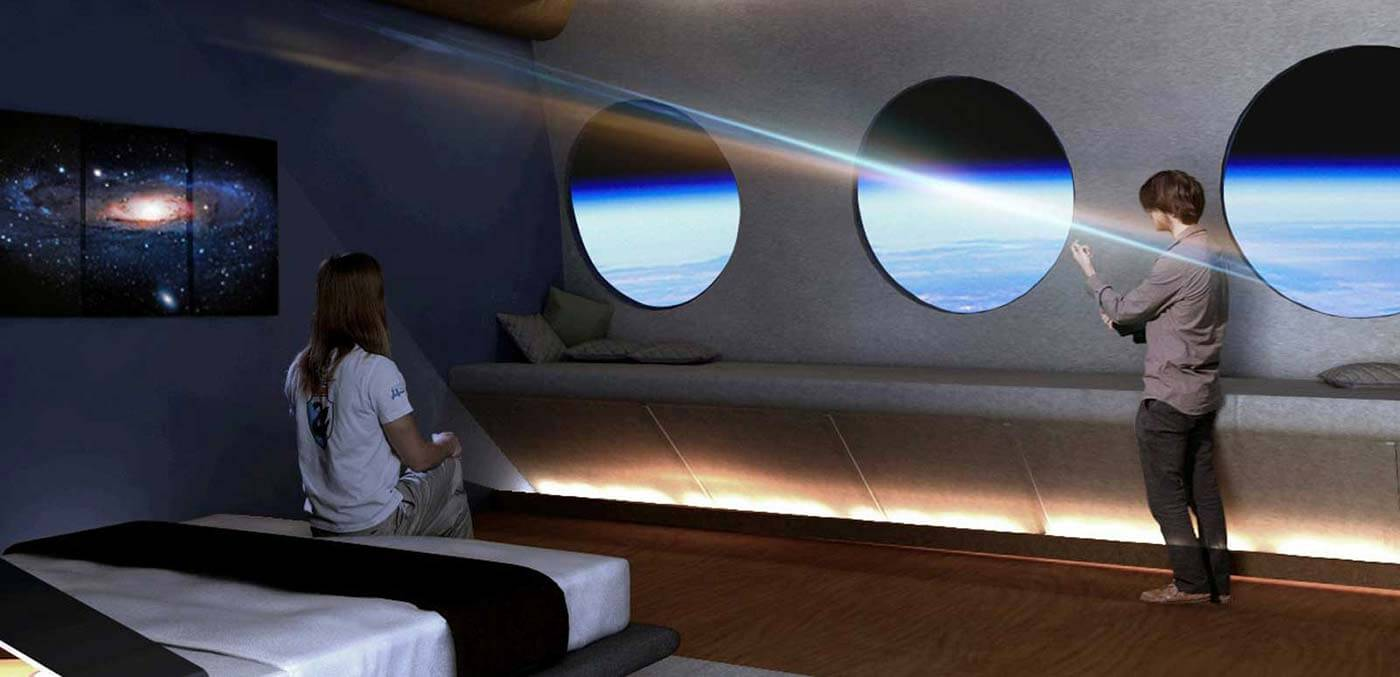Room in the space hotel