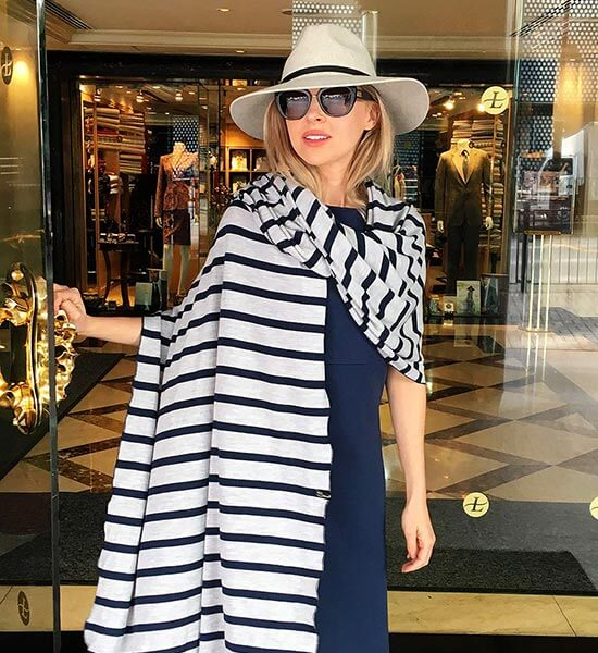 Smitten Merino stripe scarf