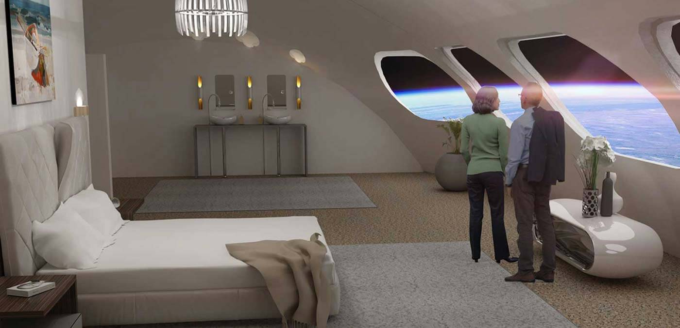 Views from the space hotel