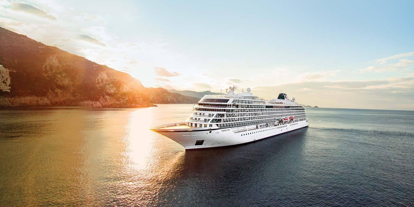 Viking Cruise at sea in Dubrovnik