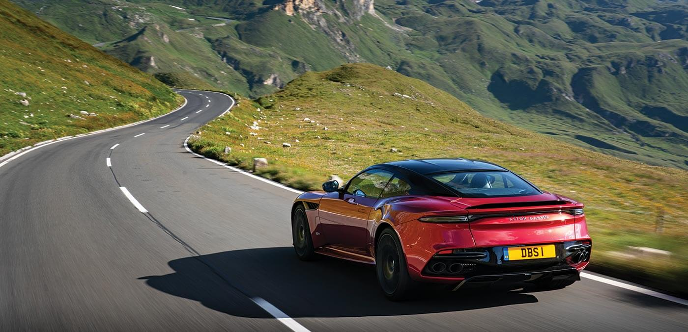 Aston Martin in the Swiss Alps