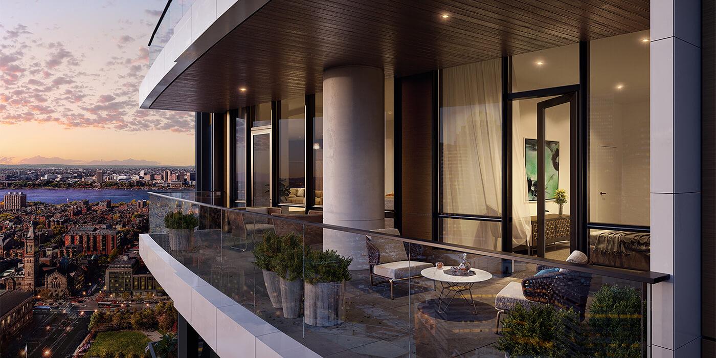 Balcony of Raffles Boston Back Bay Hotel & Residences