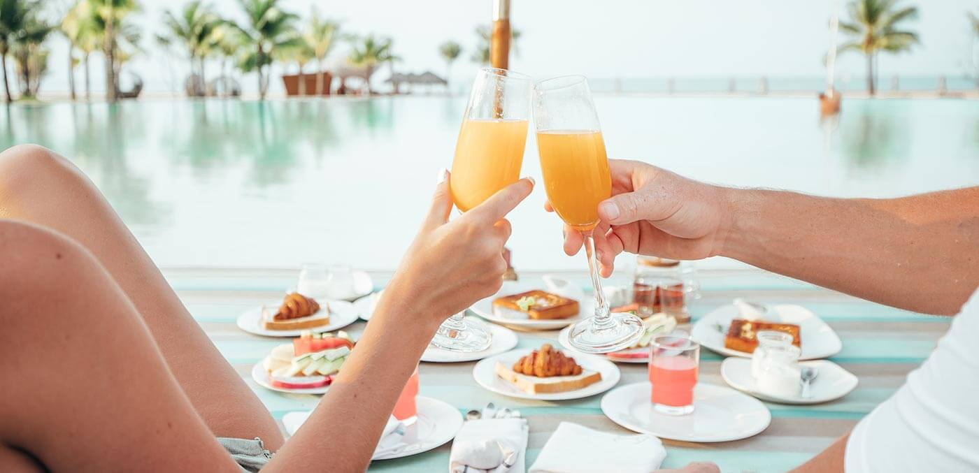 Breakfast by the pool at Fusion Phu Quoc
