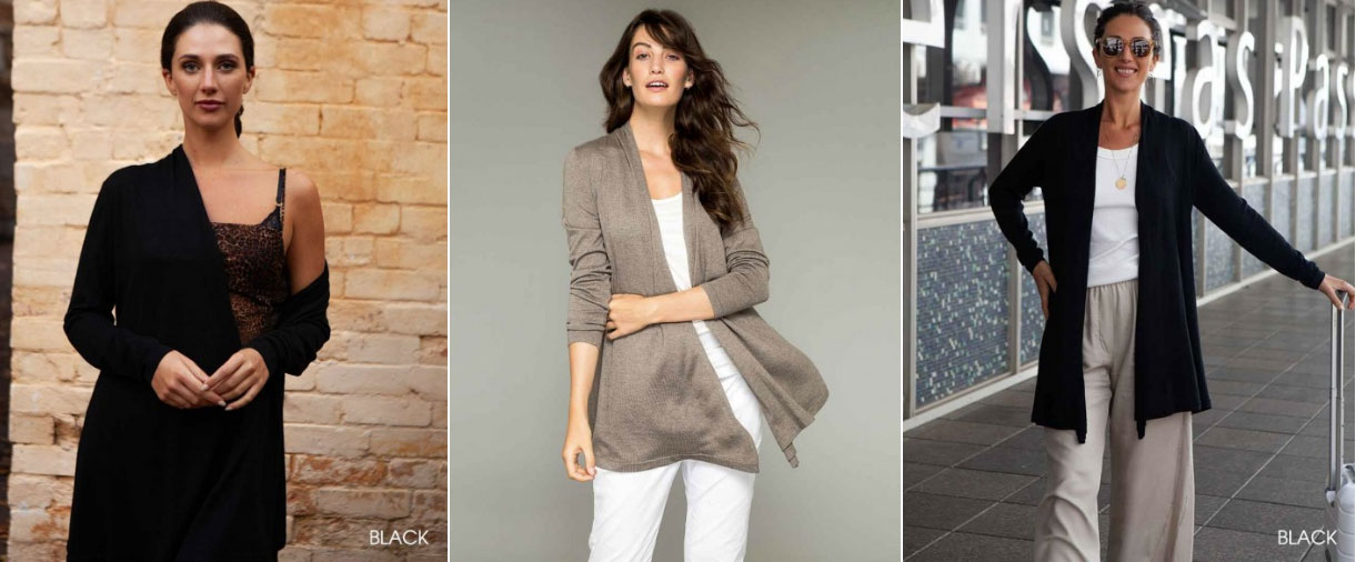 Pilar Wrap Cardigan by Everyday Cashmere