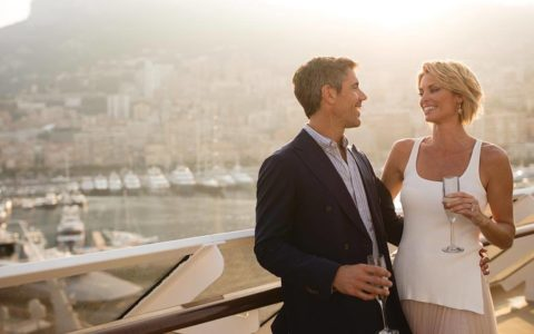 Couple on board a Regent Seven Seas Cruise