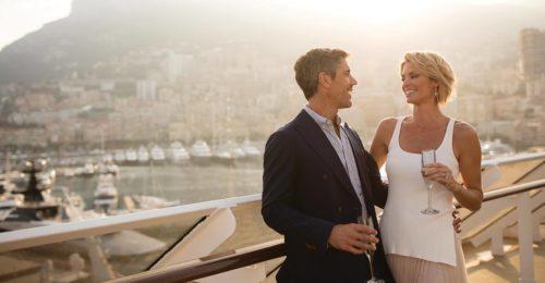 Couple on board a Regent Seven Seas Cruise