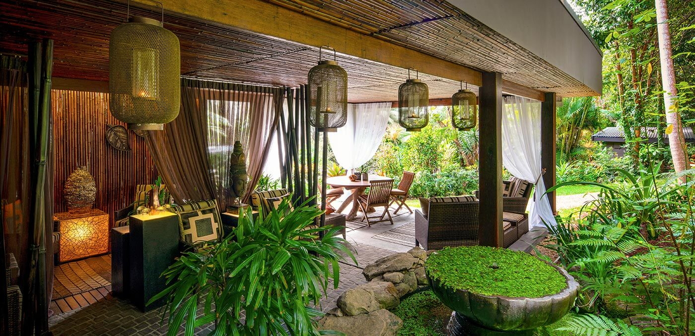 Day Spa outdoor relaxation area at Gaia Retreat & Spa