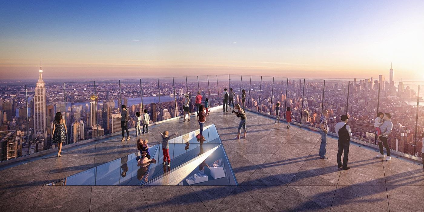 Edge The highest outdoor sky deck in the Western Hemisphere