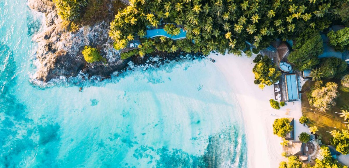 Stunning beach at North Island, Seychelles