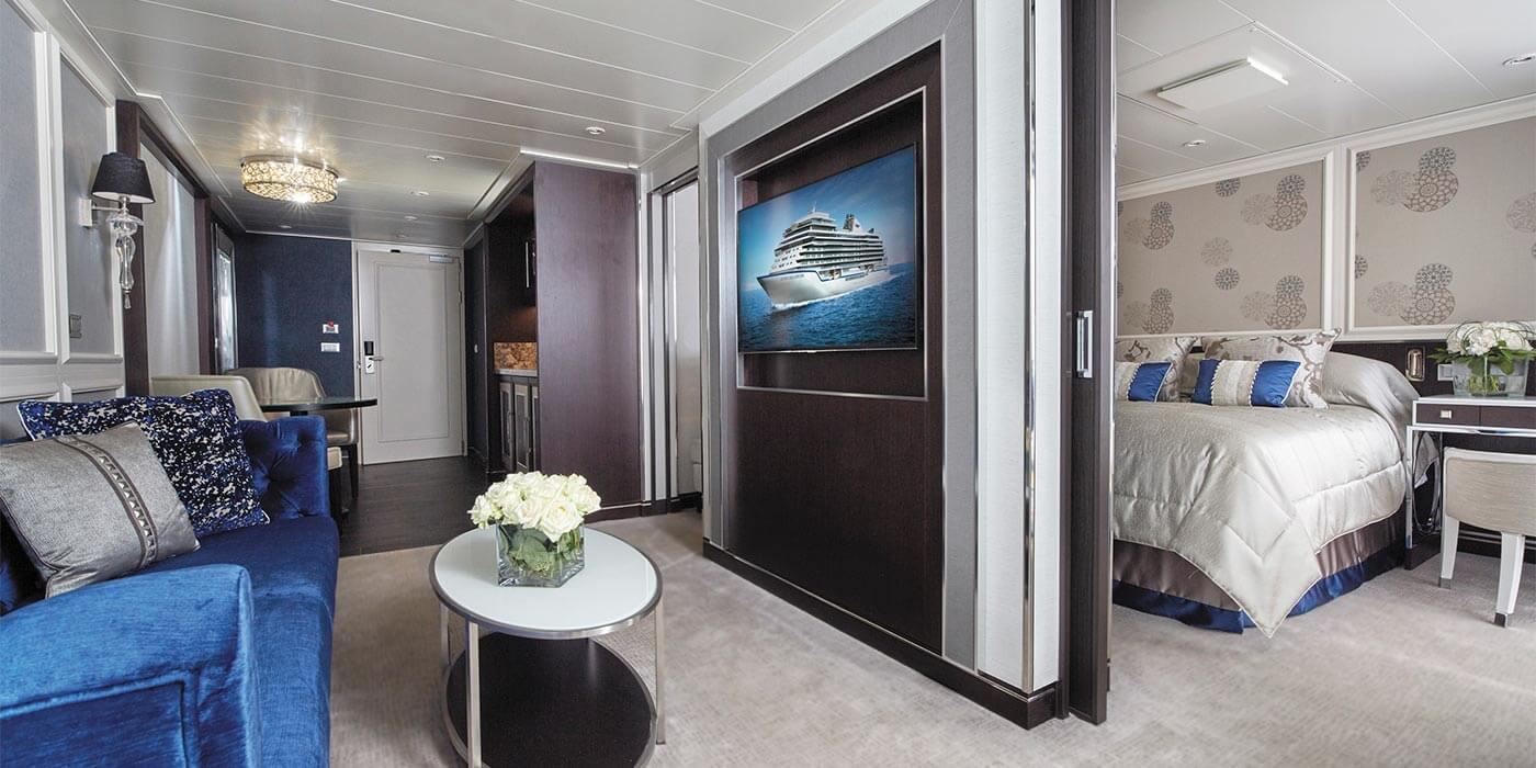 Penthouse Suite on board a Regent Seven Seas Cruises