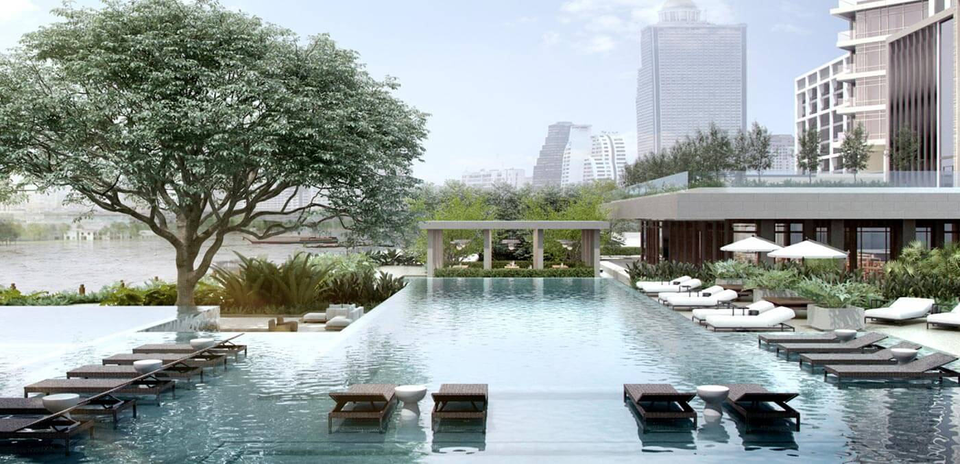 Pool at Four Seasons Hotel Bangkok at Chao Phraya River