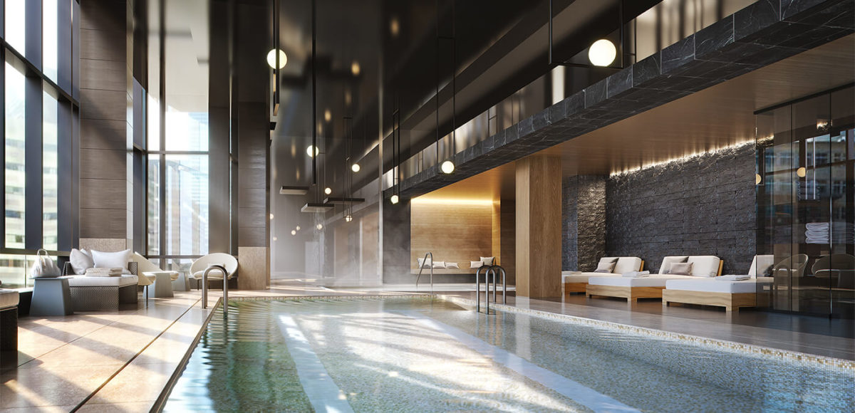 Pool at Raffles Boston Back Bay Hotel & Residences