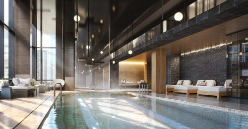 Pool at Raffles Boston Back Bay Hotel & Residences