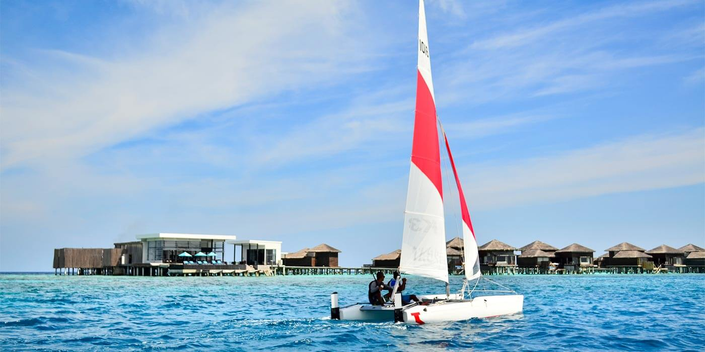 Sailing at Raffles Maldives Meradhoo