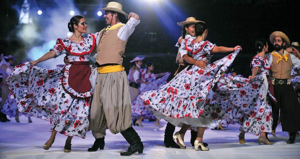 Vendimia, Mendoza's annual grape harvest festival, with 40,000 visitors come to celebrate and enjoy the local nectar