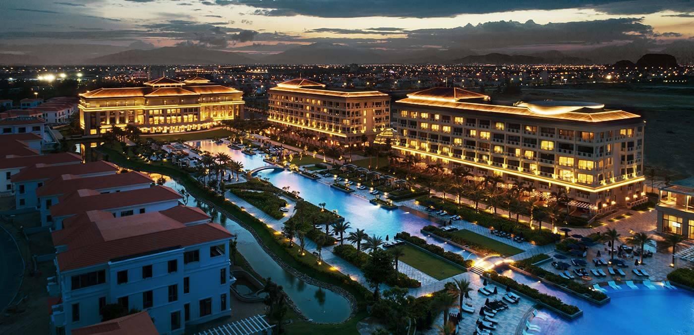 Aerial shot of Sheraton Grand Danang Resort
