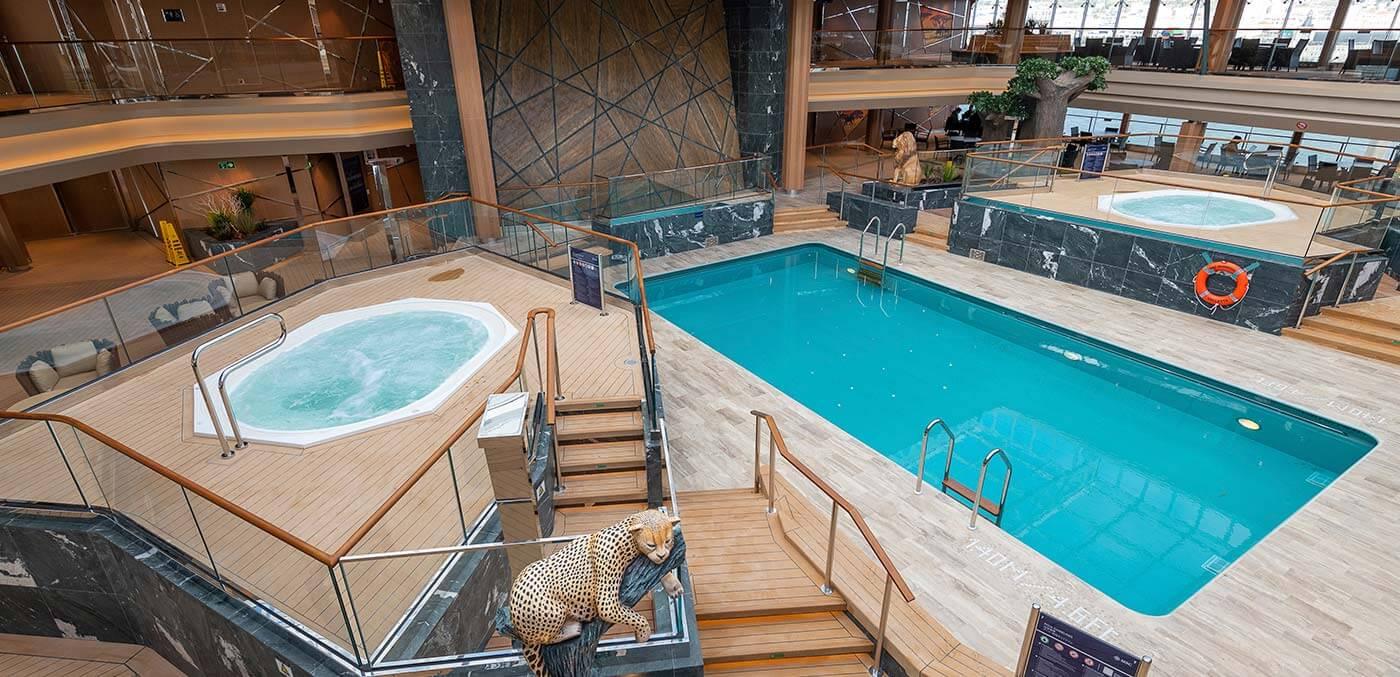 Indoor pool at MSC Grandiosa