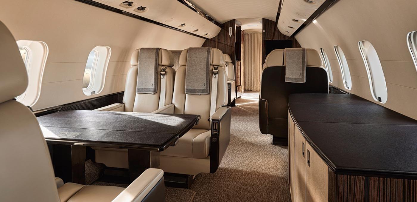 Interior of Aman Private Jet