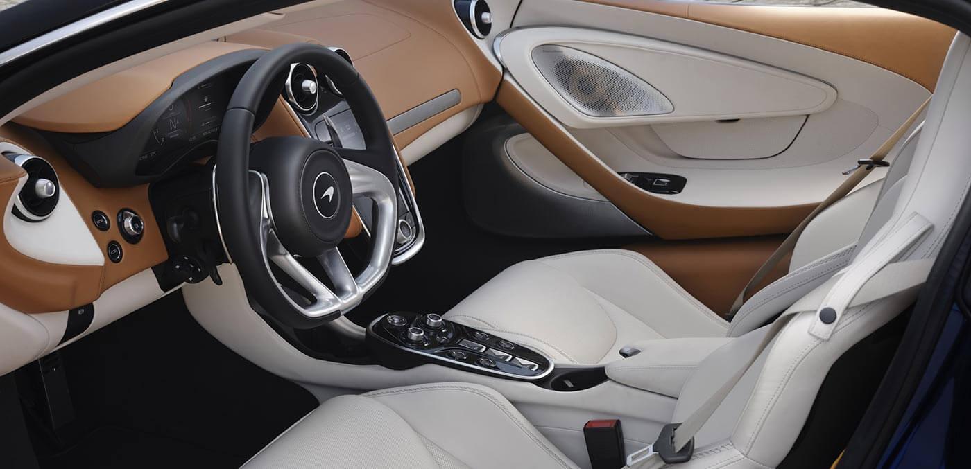 Interior of McLaren GT