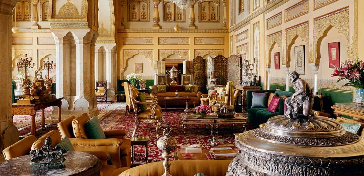 Living room at The City Palace of Jaipur