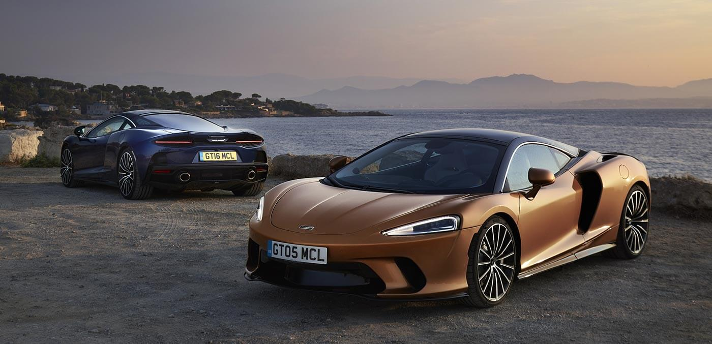 McLaren GT in Burnished Copper and Namaka Blue