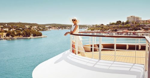 Seabourn lady on the ship