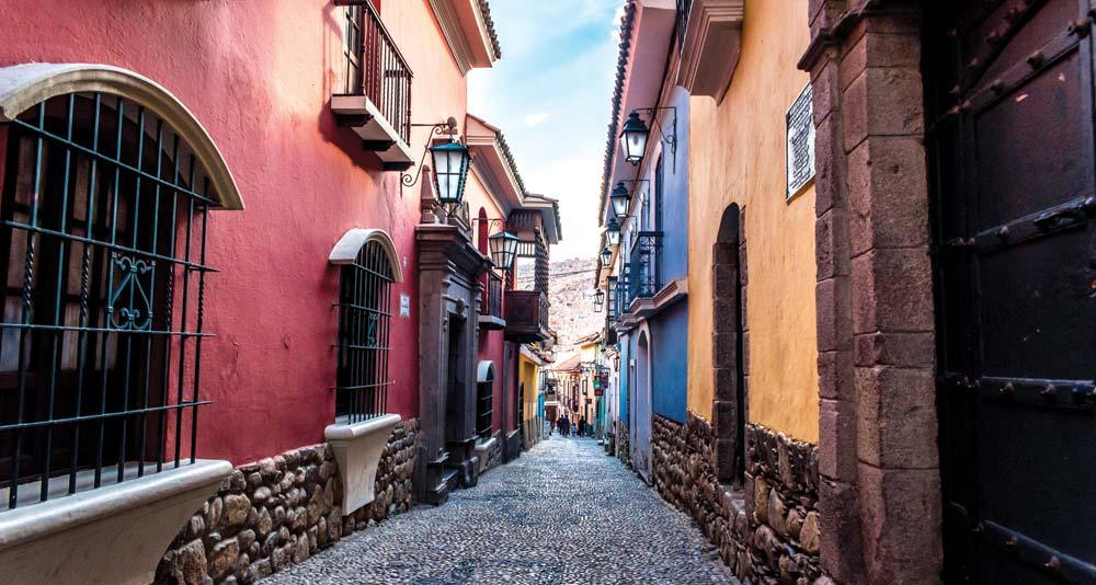 The colourful streets of La Paz, Bolivia's capital