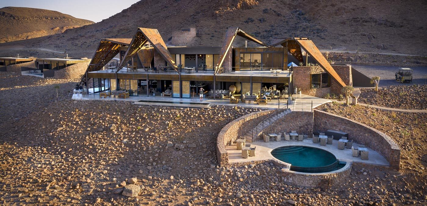 Aerial view of andBeyond Sossusvlei Desert Lodge