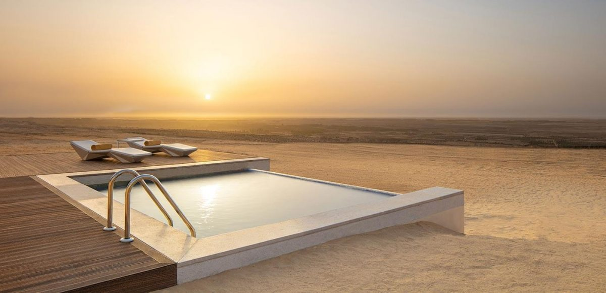 Pool with a view over Chott el Djerid, Anantara Tozeur