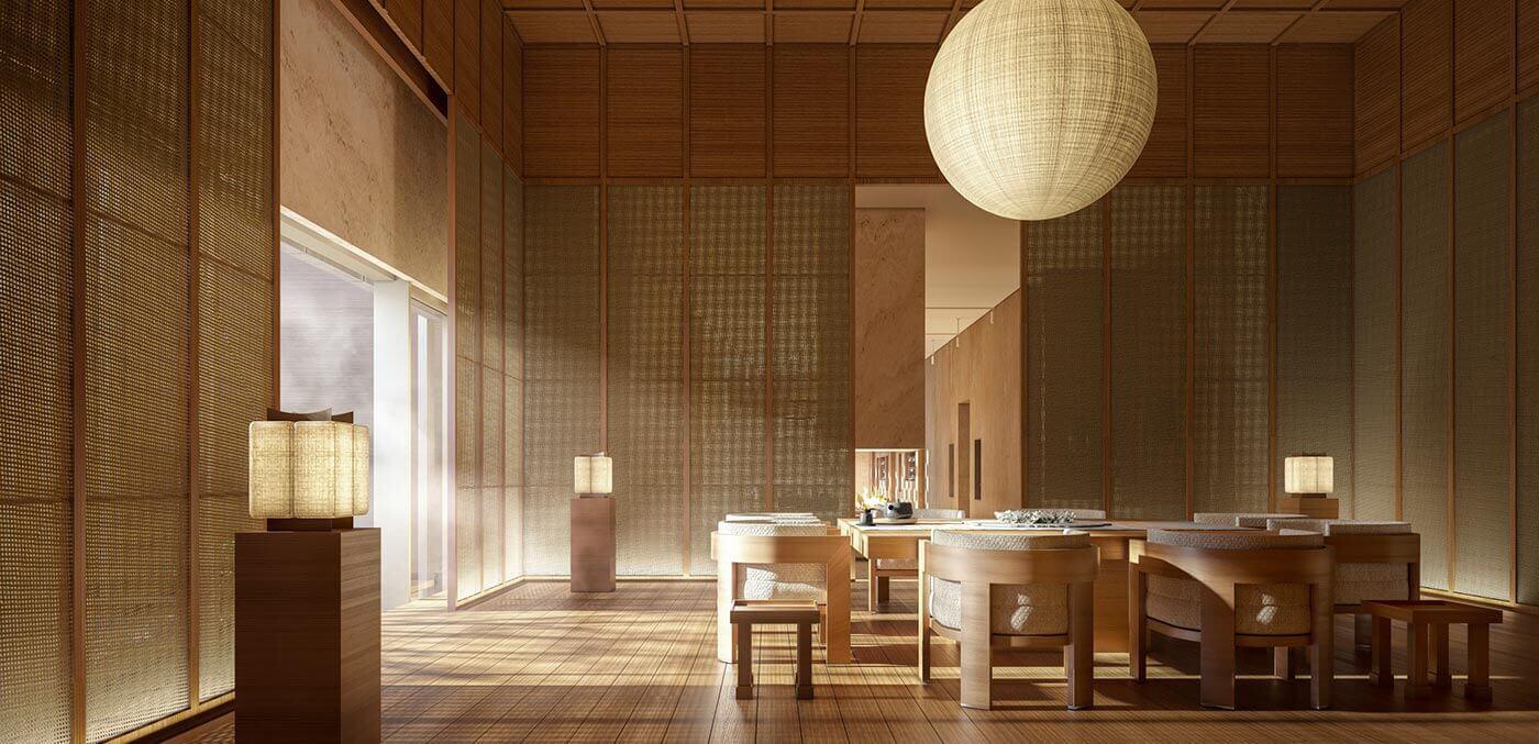 Aman Spa Tea Room at Aman Niseko