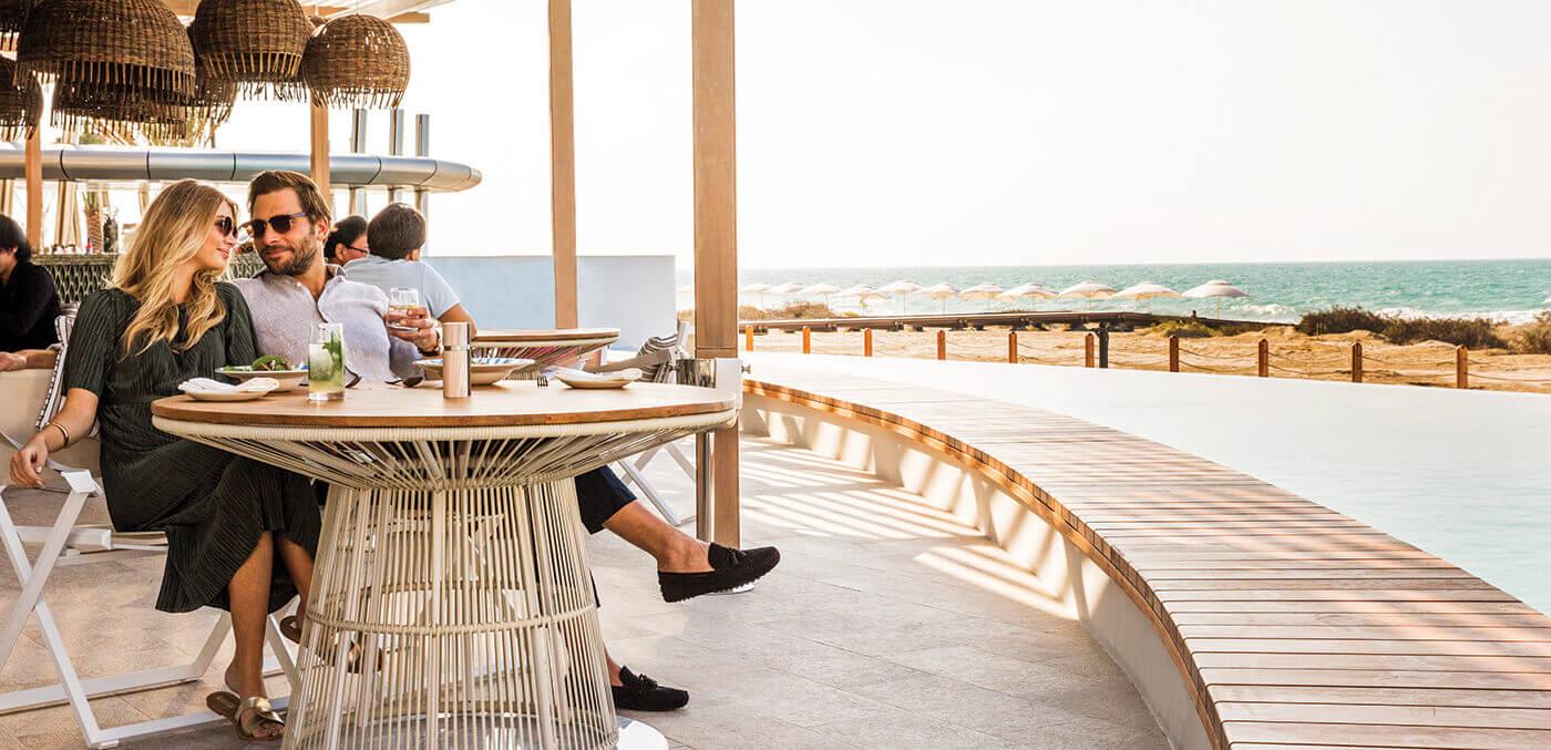 Couple at Jumeirah at Saadiyat Island Resort