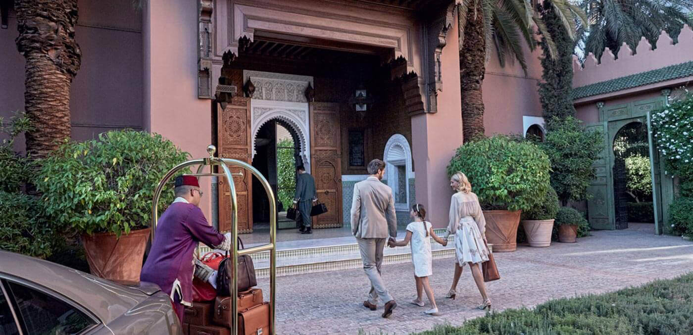 Entrace to The Grand Riad, suites, extravagant suites