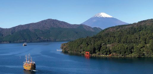 Hakone offers views of Mount Fuji