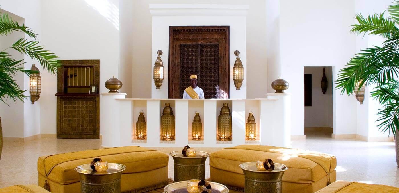 Lobby of Baraza Resort & Spa