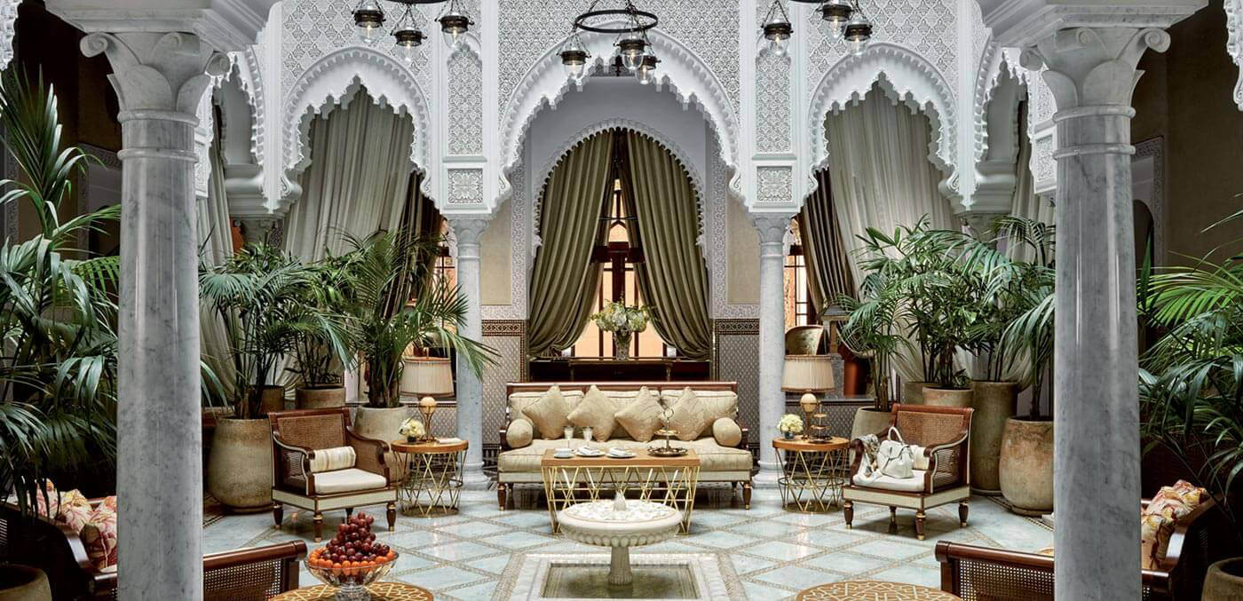 Outdoor living room at The Grand Riad, suites, extravagant suites