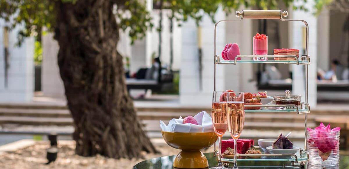 Pink high tea at Park Hyatt Siem Reap