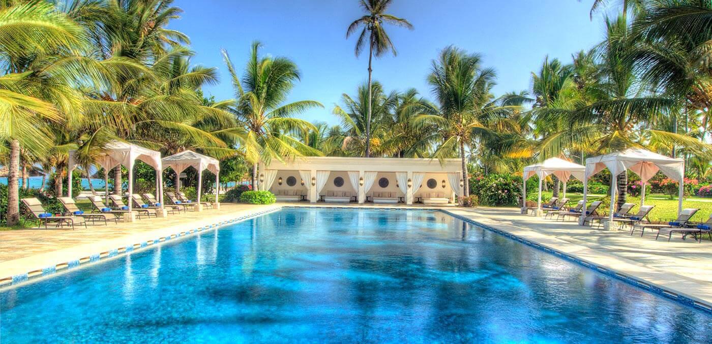 Pool cabanas at Baraza Resort & Spa