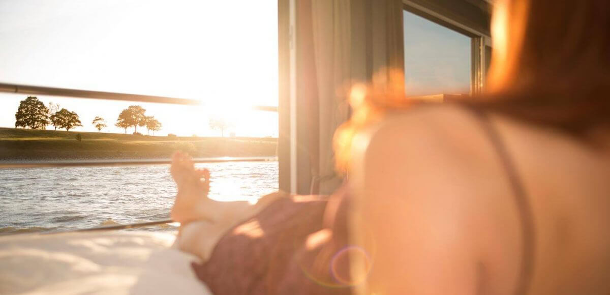 Relaxing on board a Avalon Waterways cruise