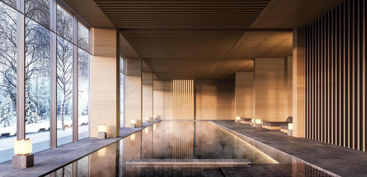 Swimming pool at Aman Niseko