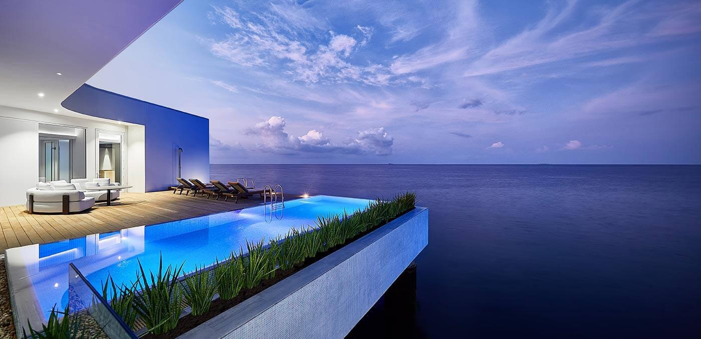 THE MURAKA Deck at Sunset, suites, extravagant suites