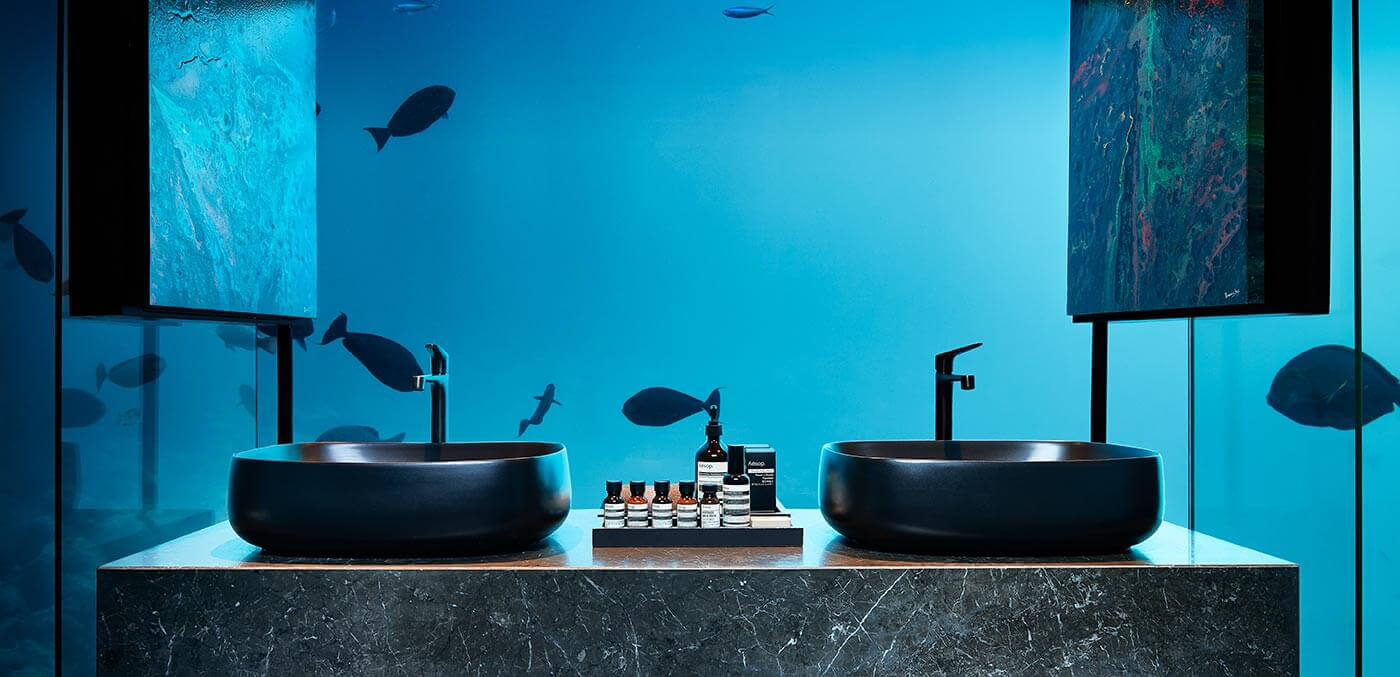 THE MURAKA Underwater Bathroom, suites, extravagant suites