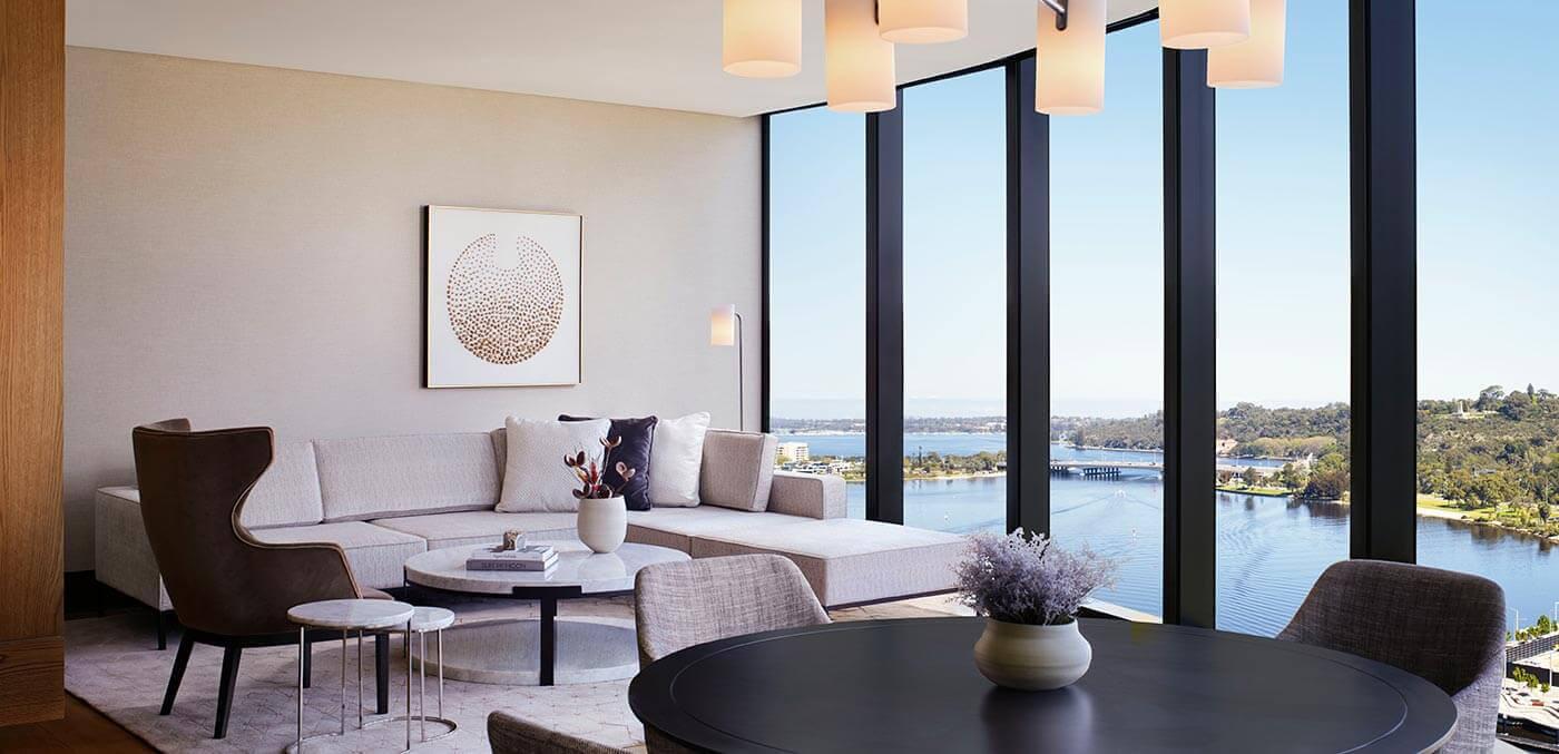 The Ritz-Carlton, Perth Elizabeth Quay Suite Living Room