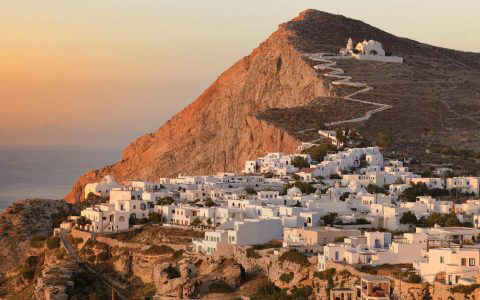 Folegandros is known for its hilltop Panagia church
