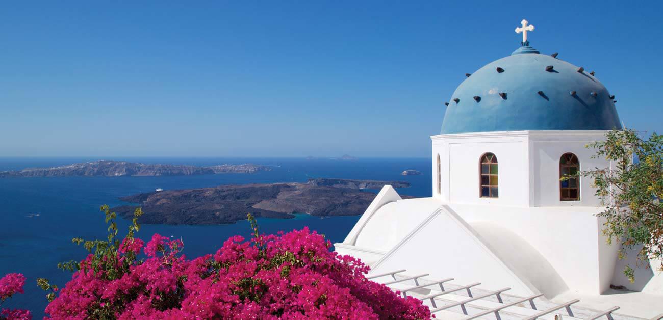 Beautiful view of Santorini caldera