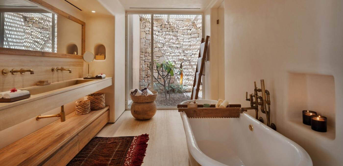 Bathroom at Six Senses Shaharut